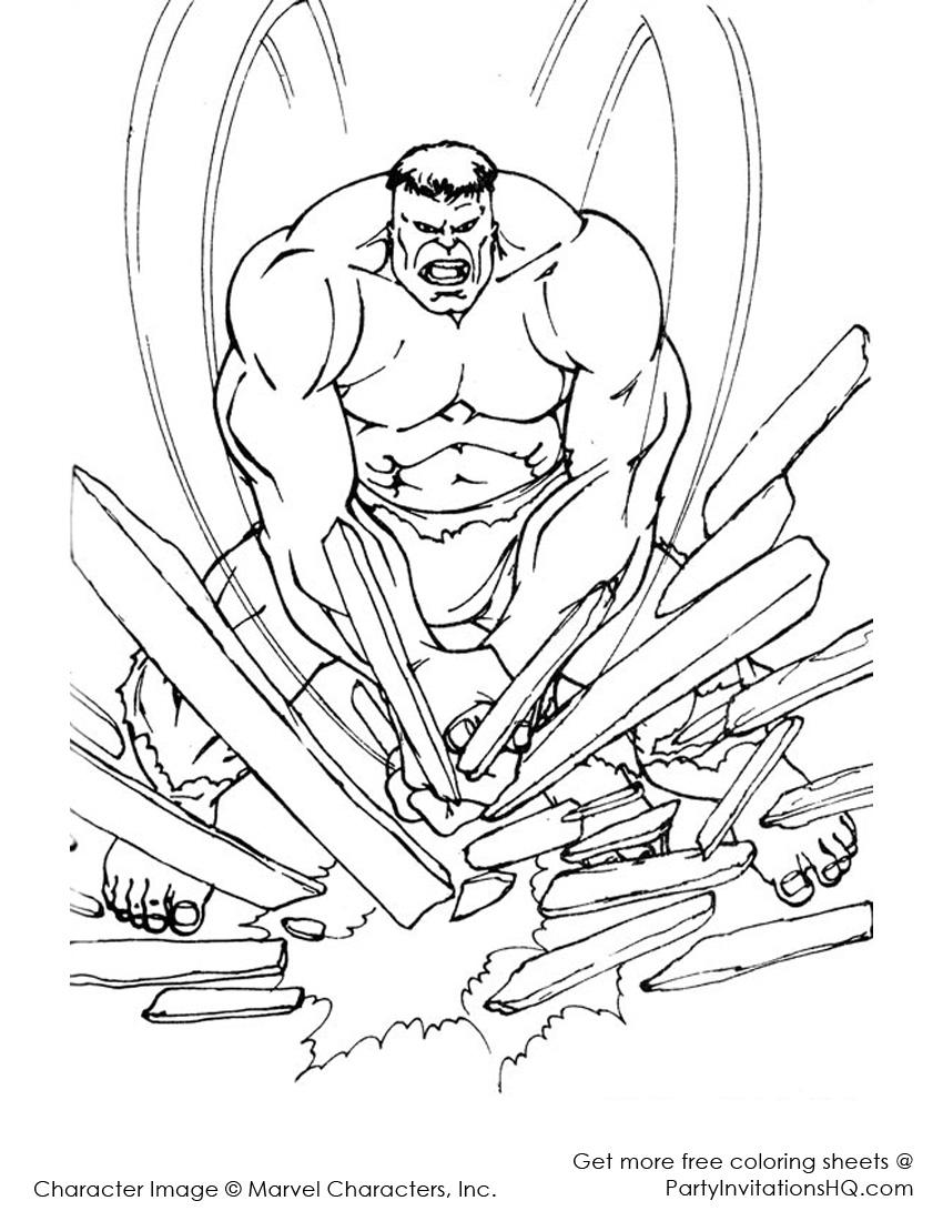 hulk dessins à colorier