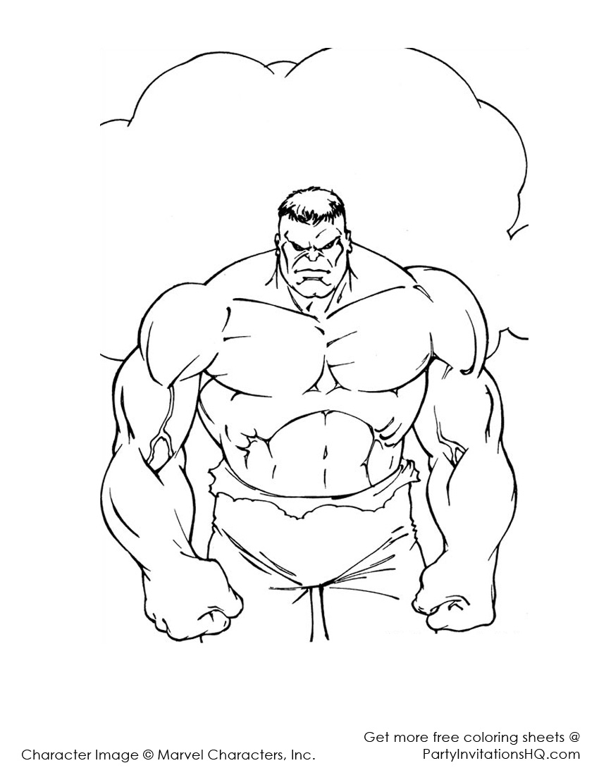 hulk dessins à colorier: truly incredible color s!