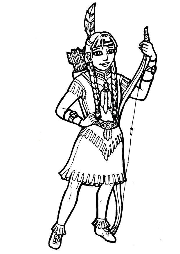 45 dessins de coloriage indien imprimer sur laguerche - Image coloriage ...