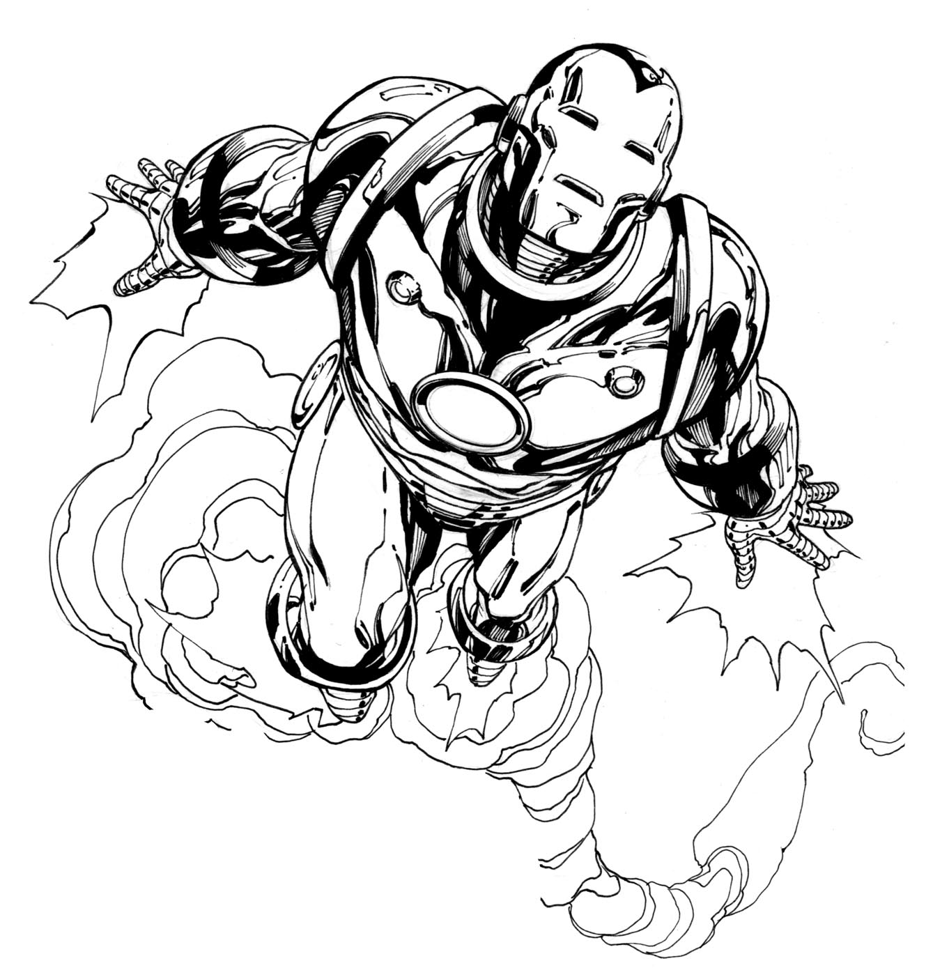 coloriage iron man dans coloriage iron man