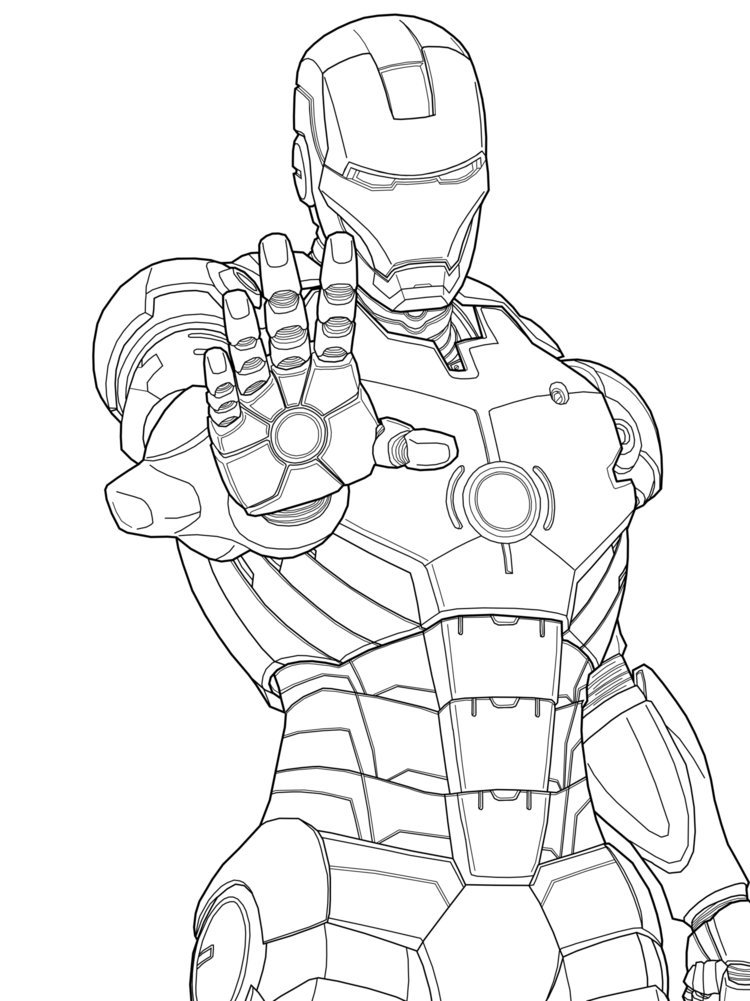 92 dessins de coloriage iron man