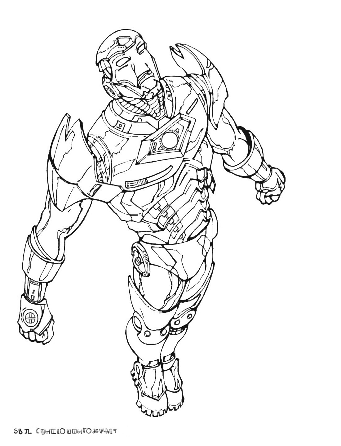 coloriage iron man dans colorear iron man