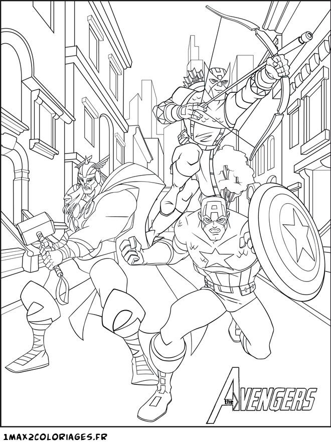 iron man de avengers en dessin coloriage