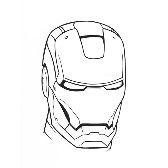 coloriage tête de iron man pour imprimer le coloriage tête de iron