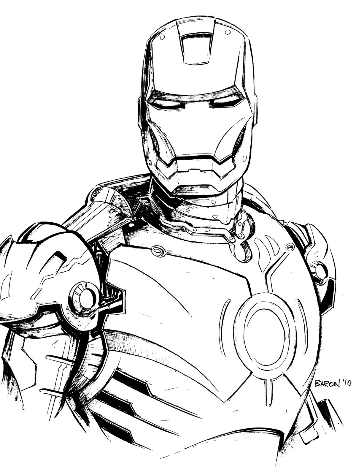 coloriage iron man coloriage