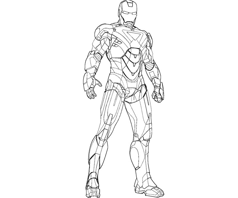 à imprimer iron man hello coloriage