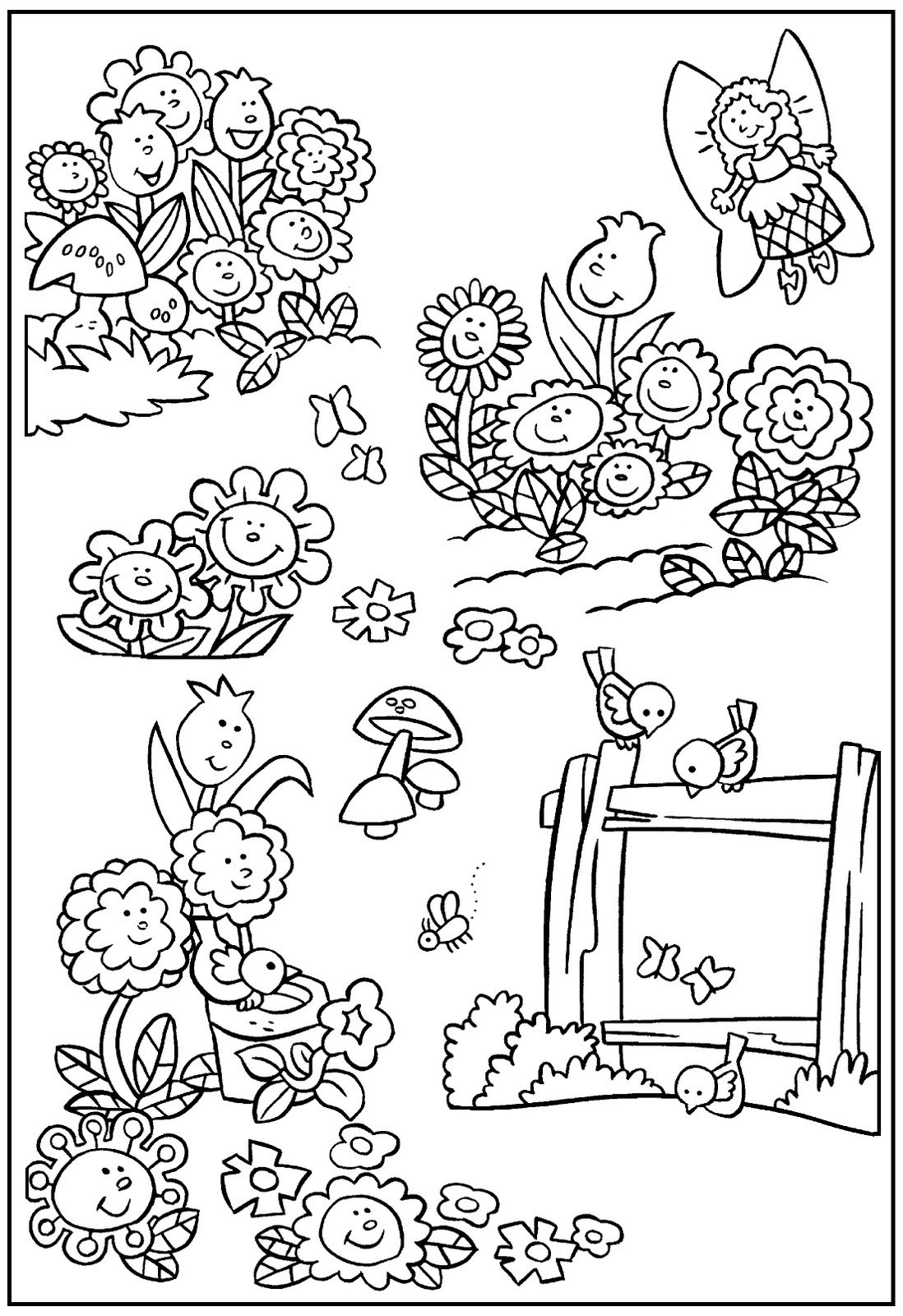 my little house: anna et the flower jardin dessins à colorier