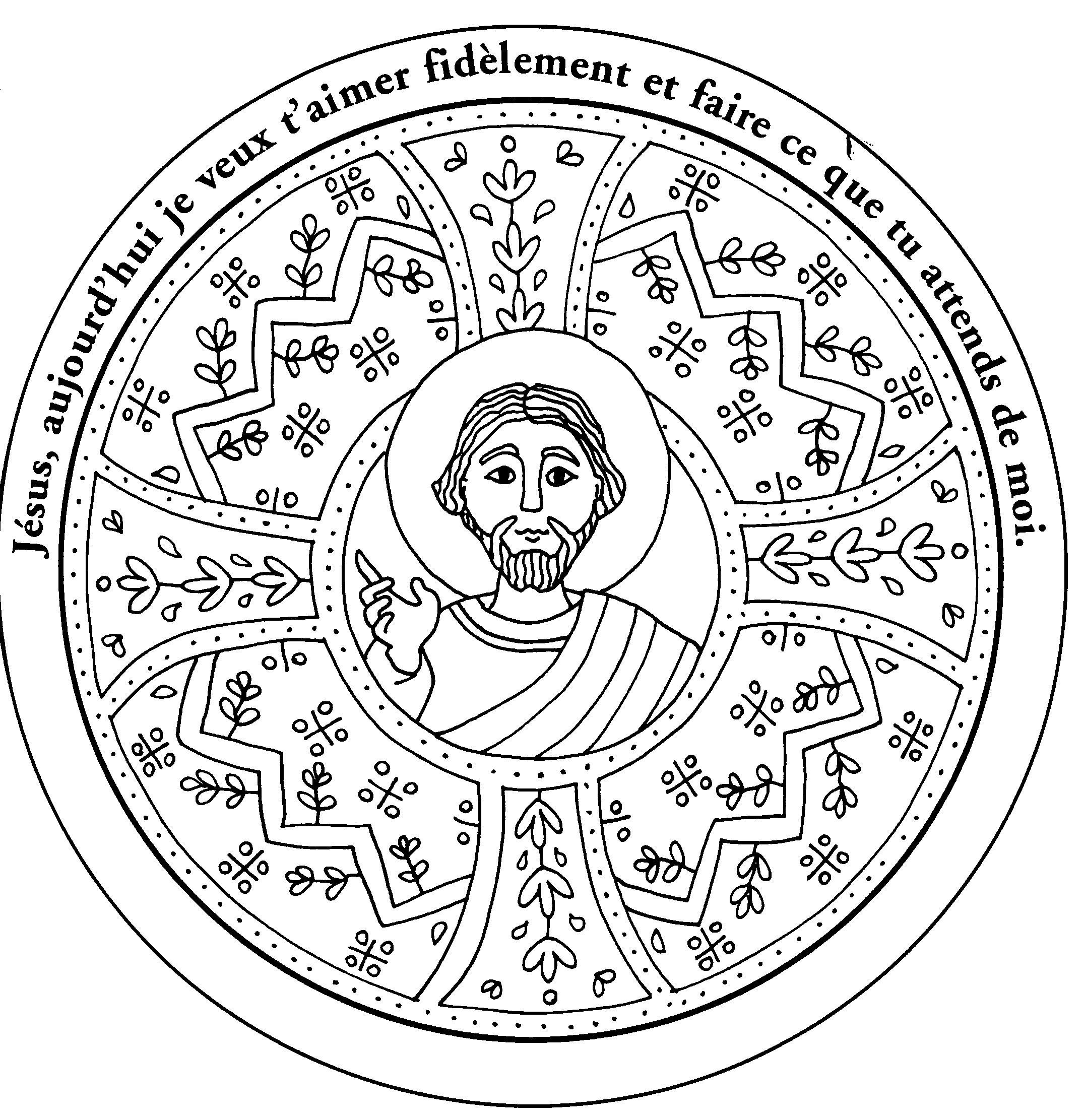 dessin 14554 une belle image de jsus a colorier et imprimer gratuit