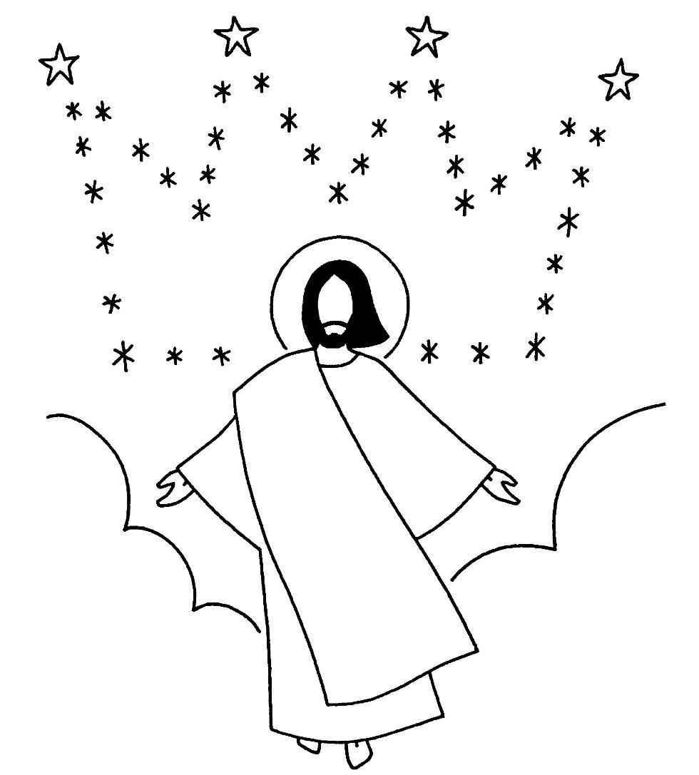 dessin 14568 coloriage de jsus amusant