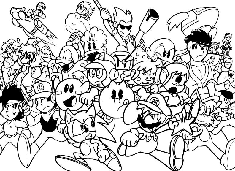 30 dessins de coloriage jeux video à imprimer sur LaGuerche.com - Page 2