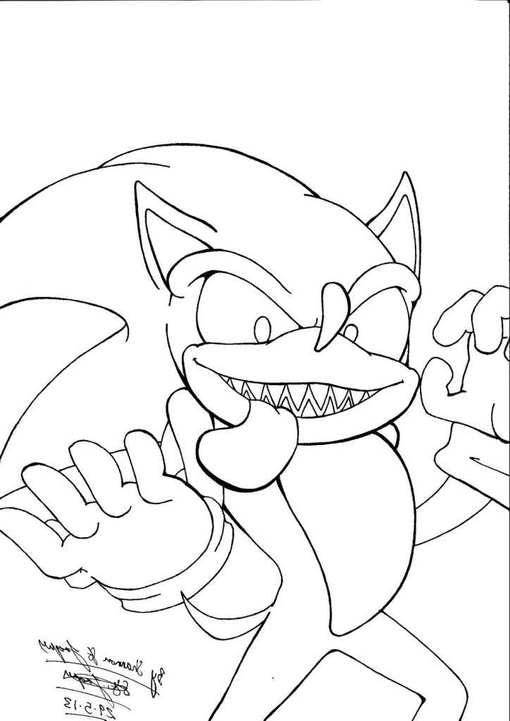 Creepypasta Sonicexe Coloring Pages Coloring Pages