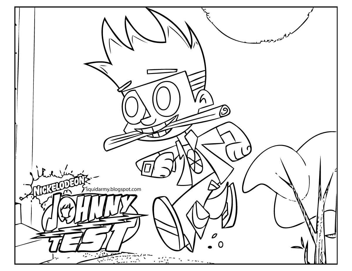 Coloriage johnny test gratuit - dessin a imprimer #14