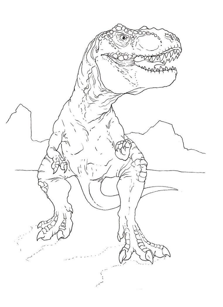 33 dessins de coloriage jurassic park imprimer sur for Jurassic park coloring page