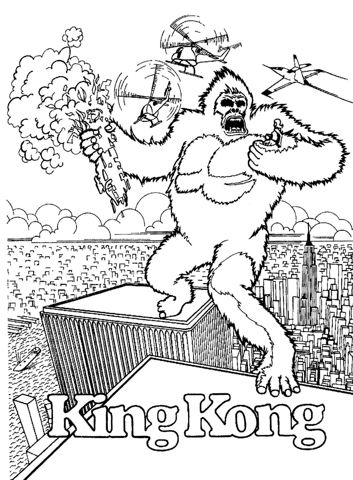 december a movie coloriage contest for king kong starring jeff