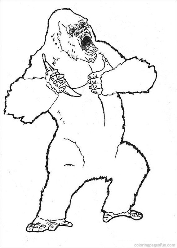 king kong dessins à colorier gratuit à imprimer dessins à colorier