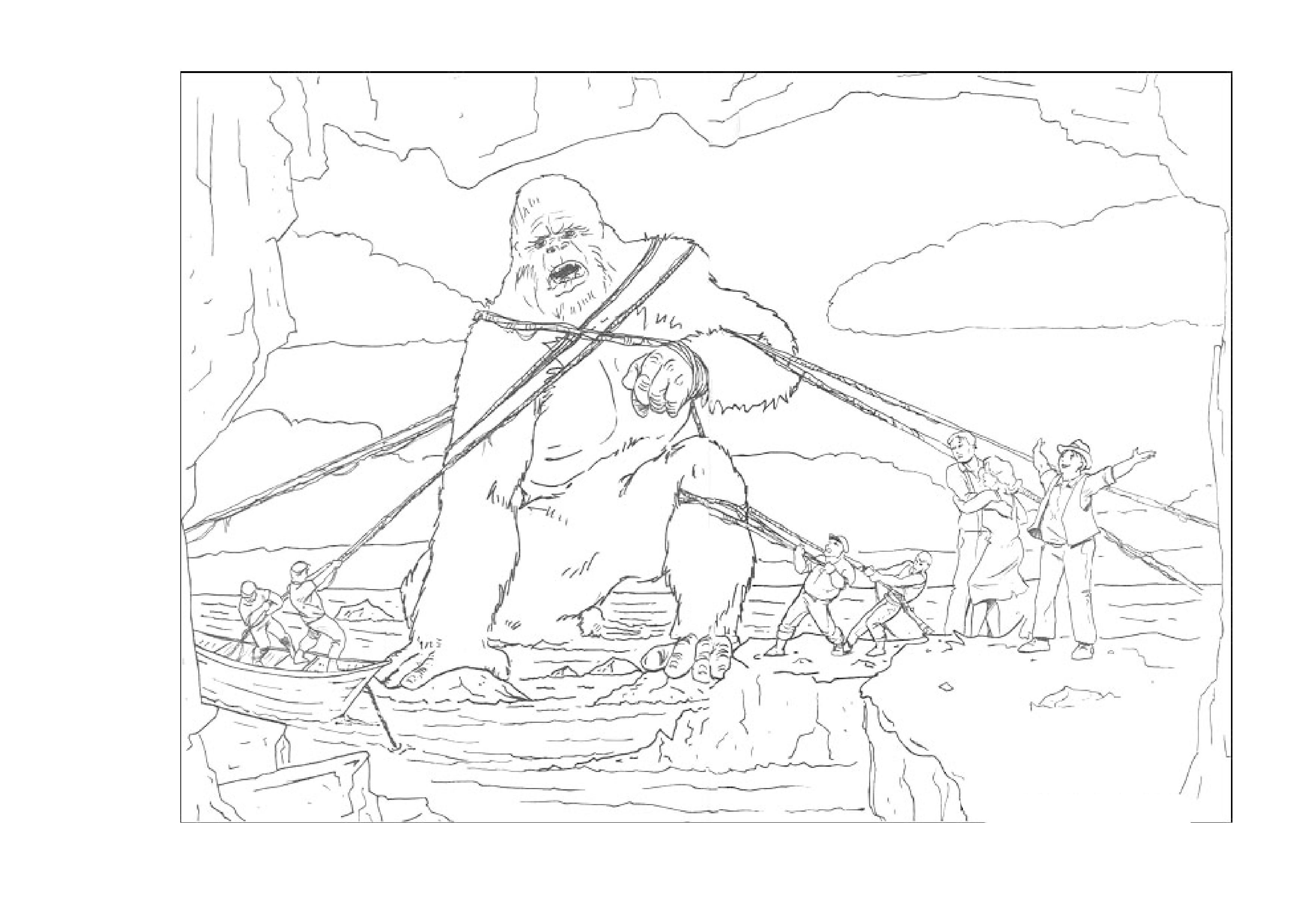 imprimer coloriage dessins cinéma king kong