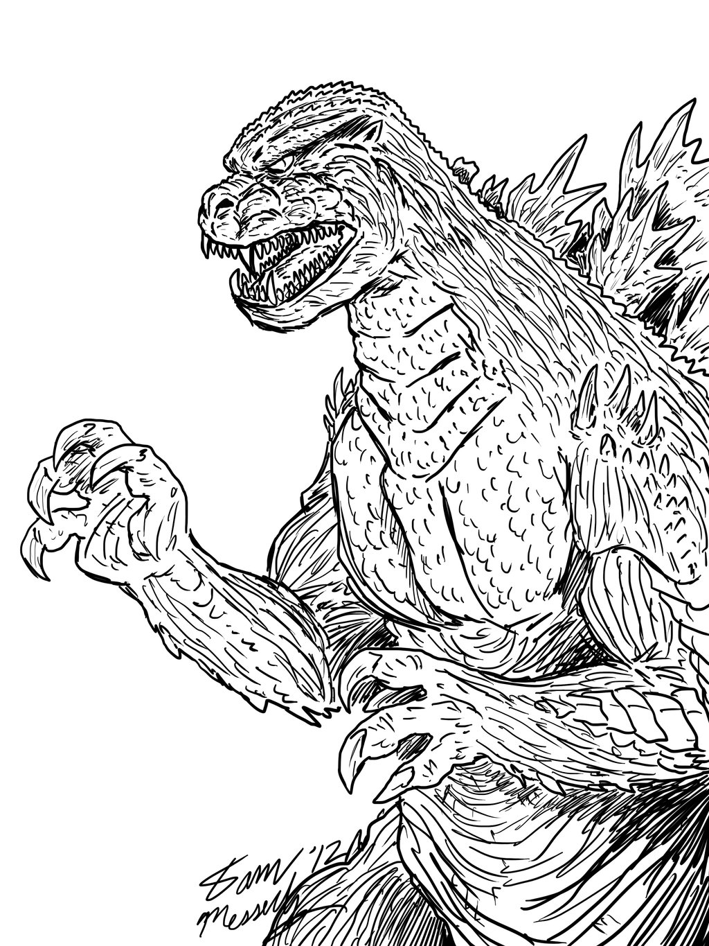 king kong vs godzilla dessins à colorier coloriage enfants