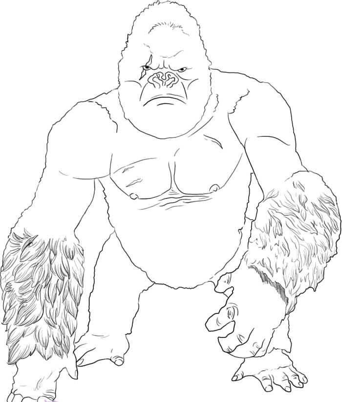 and print these king kong dessins à colorier for gratuit. king kong coloriage