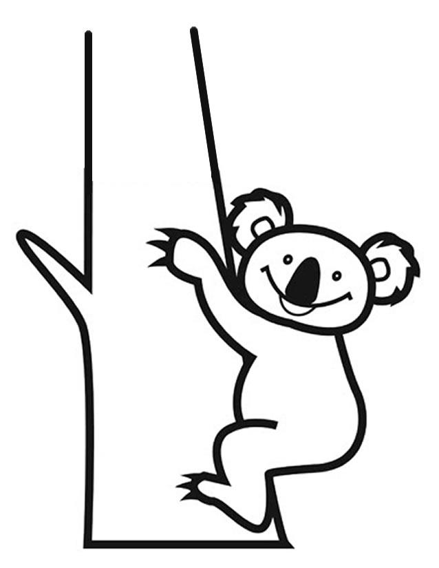 Dessin de koala pour imprimer et colorier