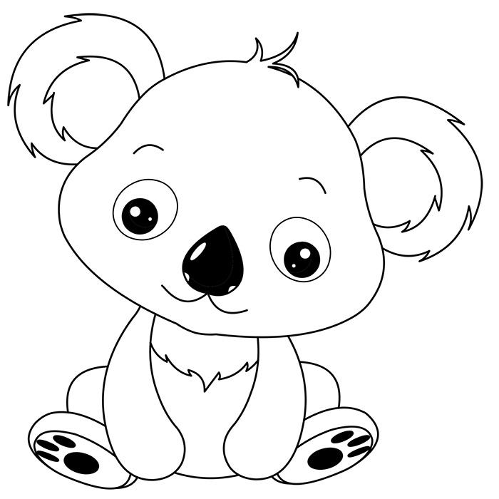 Coloriage de koala à colorier