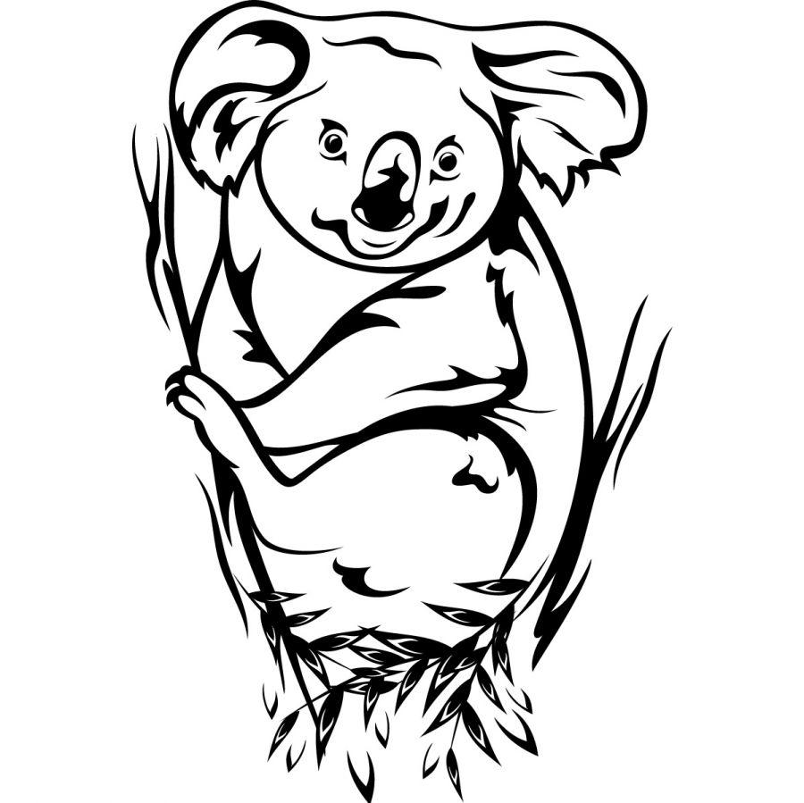 Image de koala a colorier