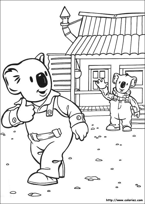 Coloriage gratuit de koala a imprimer