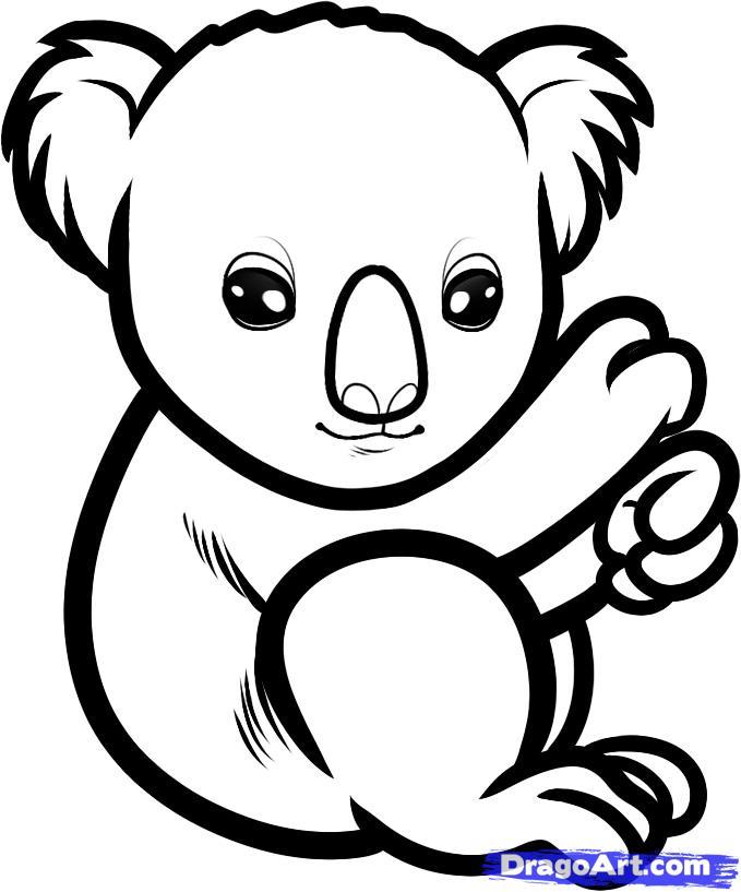 Activité de coloriage koala a colorier