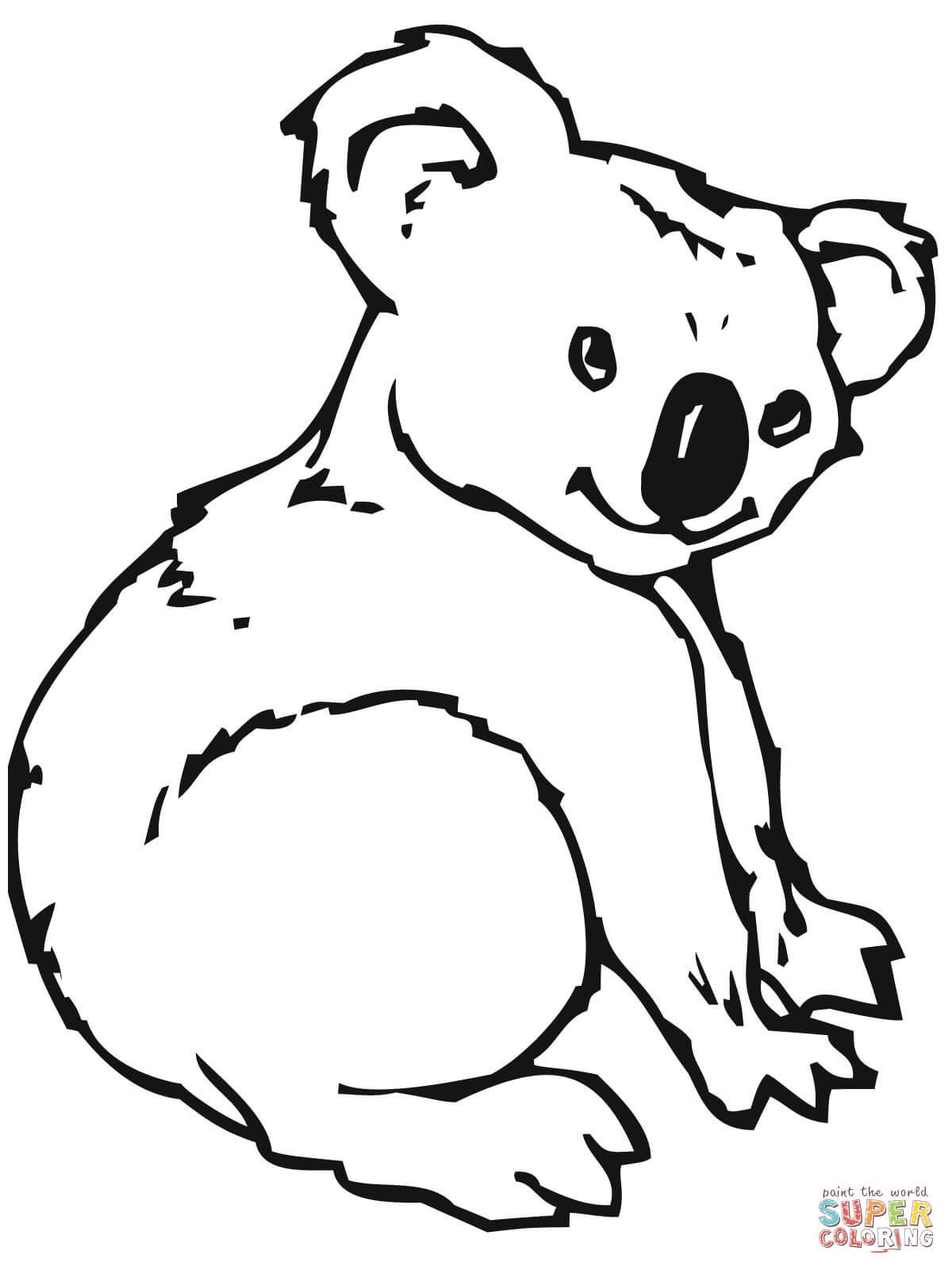Dessin gratuit koala a imprimer et colorier