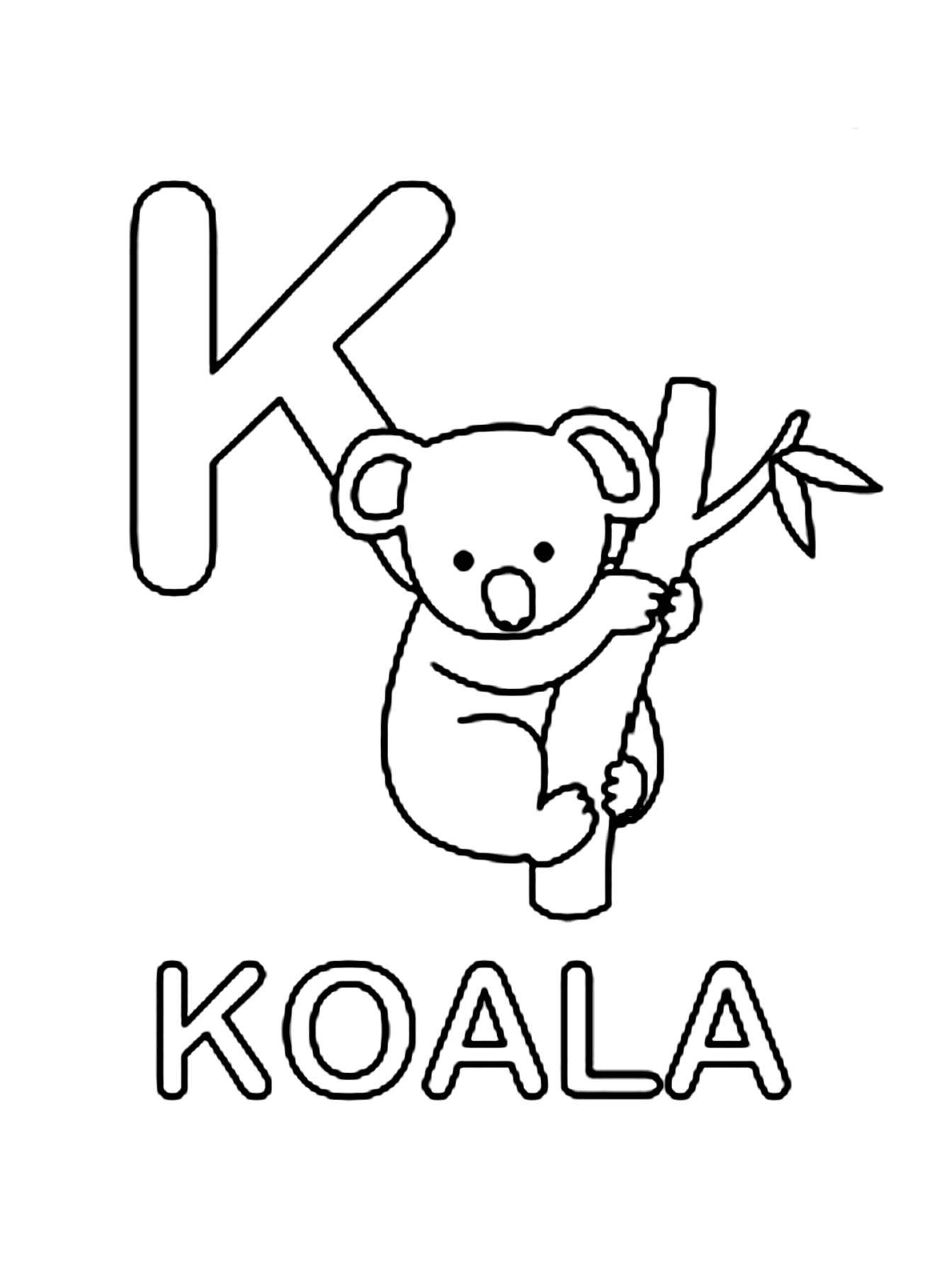 Image de koala a dessiner