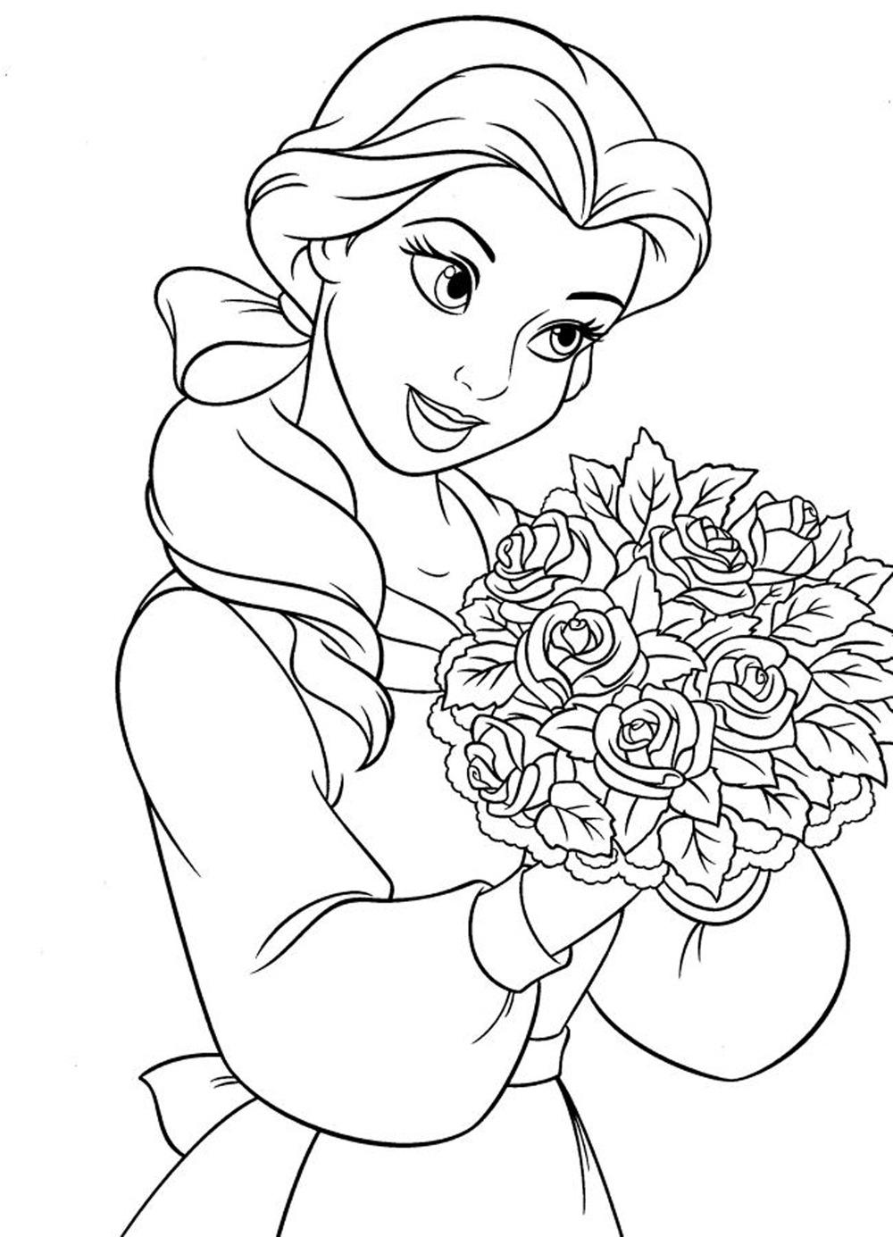 71 dessins de coloriage la belle et la b te imprimer sur page 4 - Coloriage de la belle et la bete ...