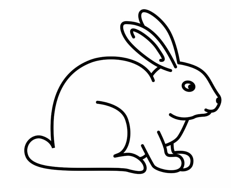 Dessin de lapin pour imprimer et colorier