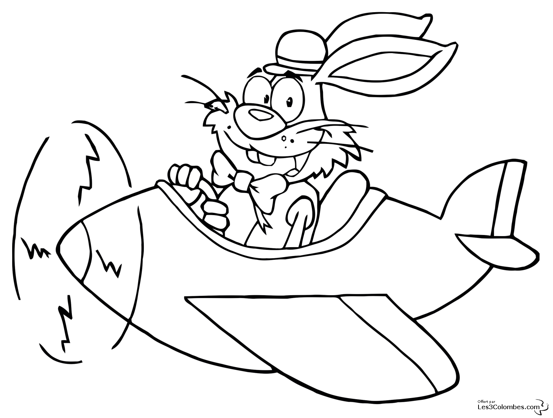 Coloriage de lapin à imprimer