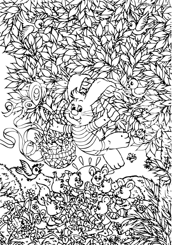Dessin de lapin à colorier et imprimer
