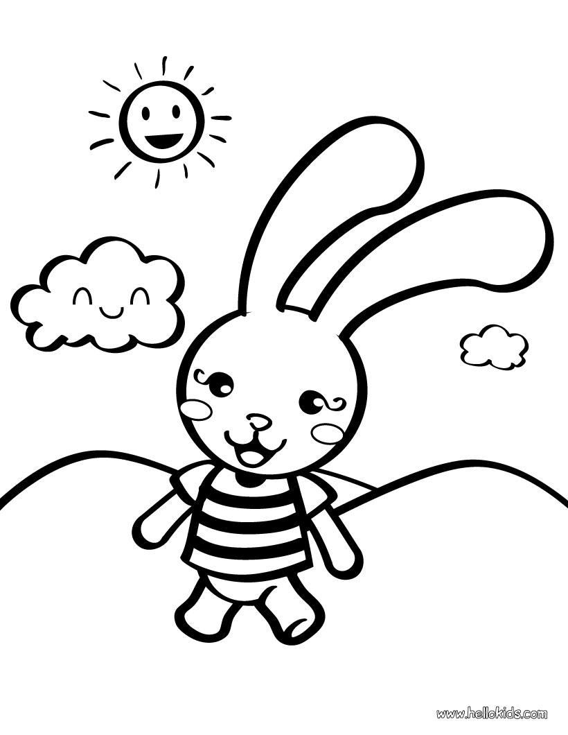 Dessin de lapin à colorier
