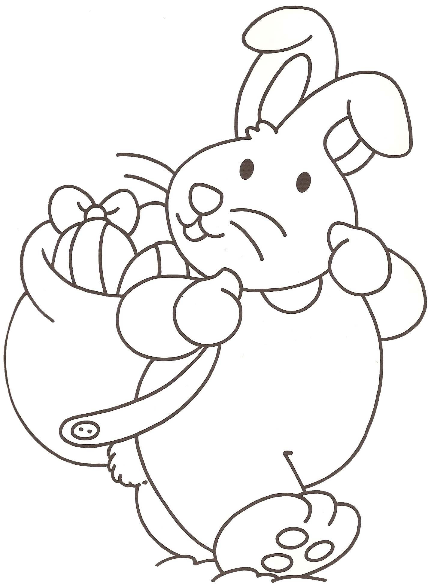 Dessin gratuit de lapin a imprimer