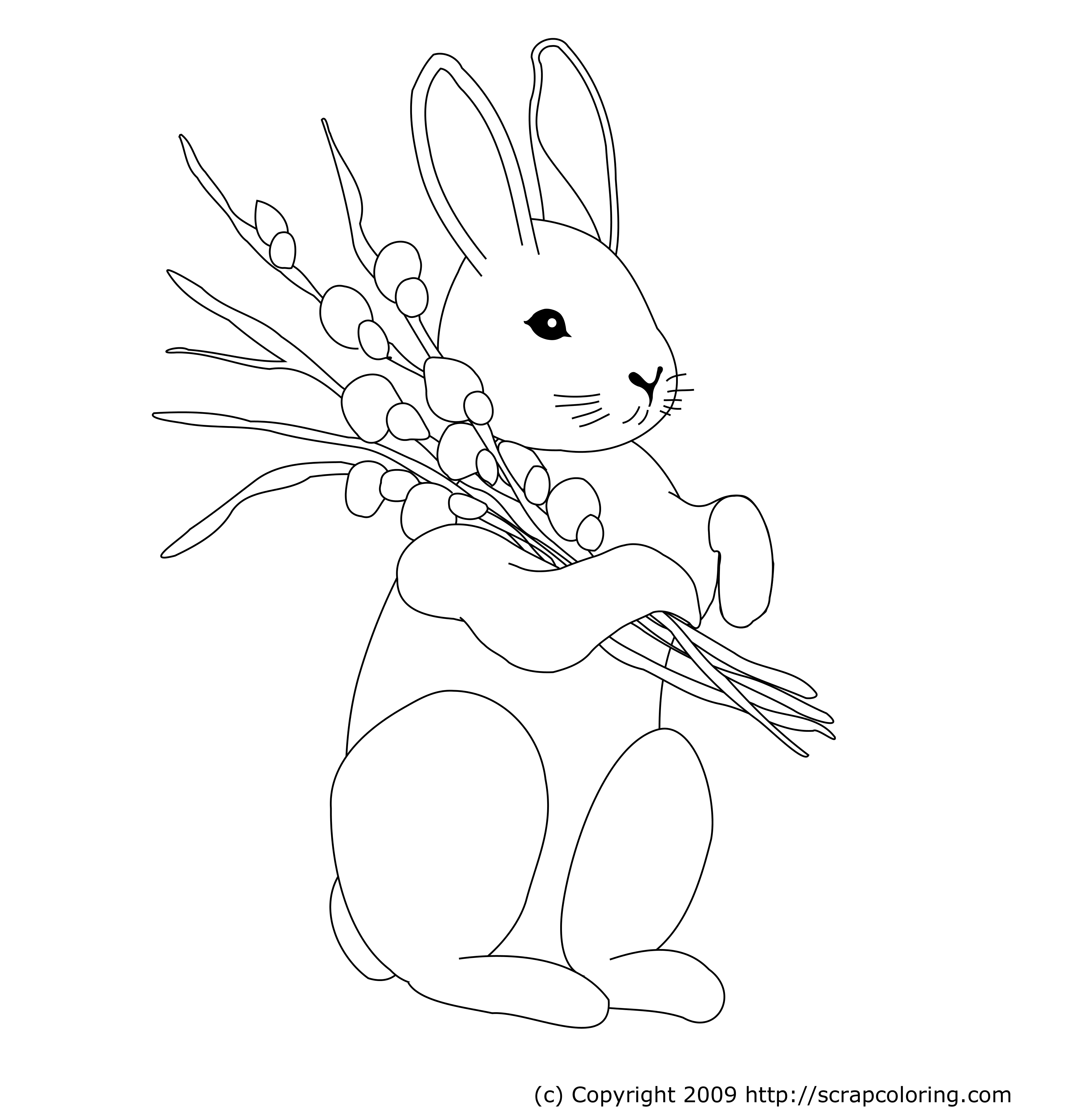 Dessin gratuit lapin a imprimer