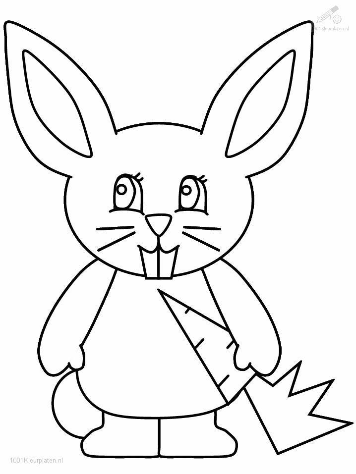 Coloriage gratuit de lapin à imprimer