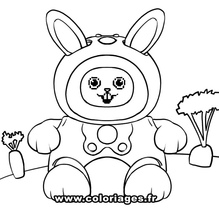 Coloriage de lapin gratuit a imprimer et colorier