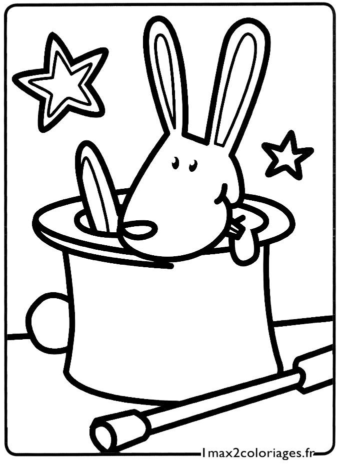 Coloriage lapin imprimer et colorier
