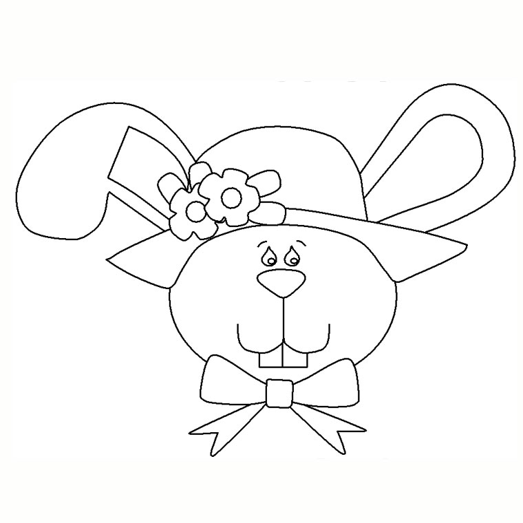 Coloriage lapin a colorier