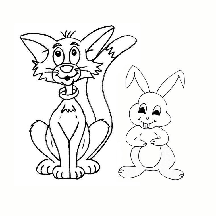 Coloriage lapin a imprimer