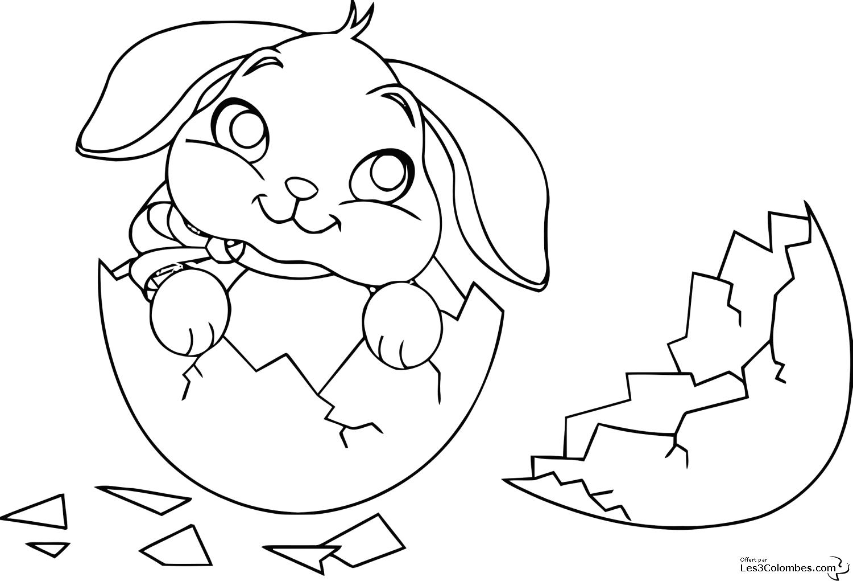 Jeux de coloriage lapin à colorier et imprimer