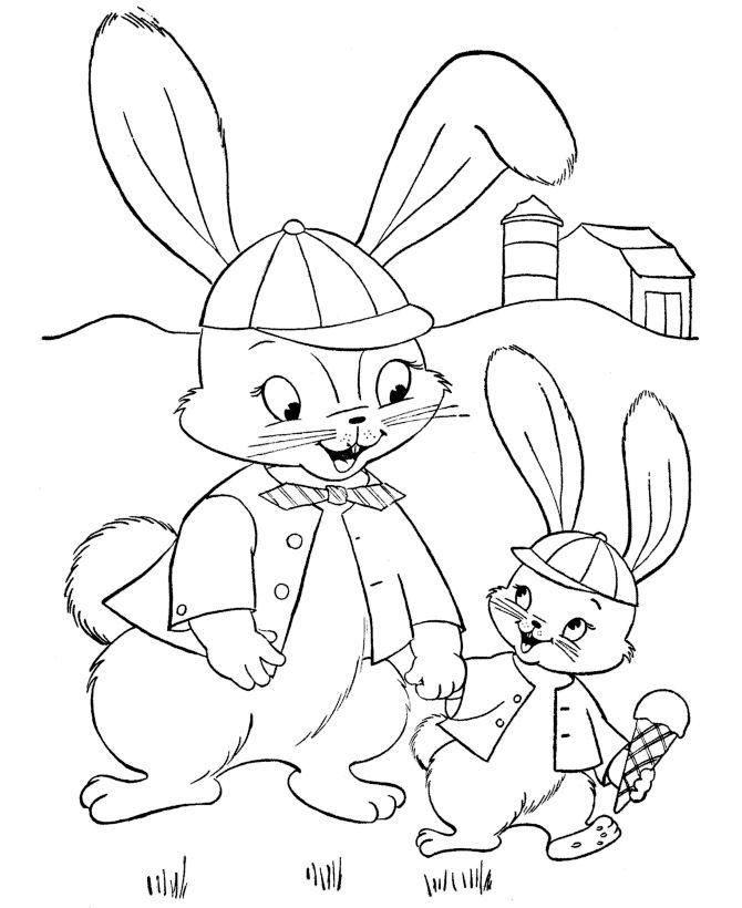 Coloriage de lapin imprimer et colorier