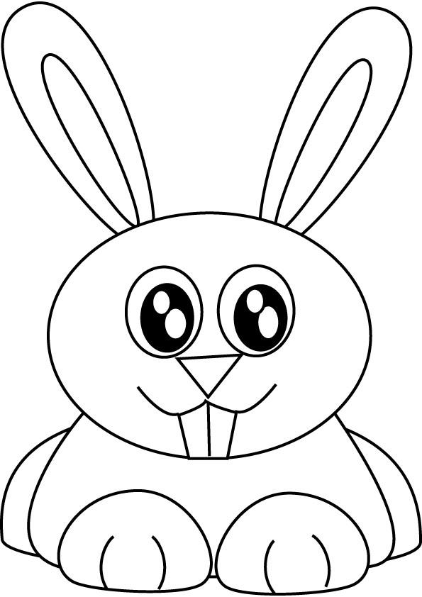 Coloriage de lapin gratuit à imprimer et colorier
