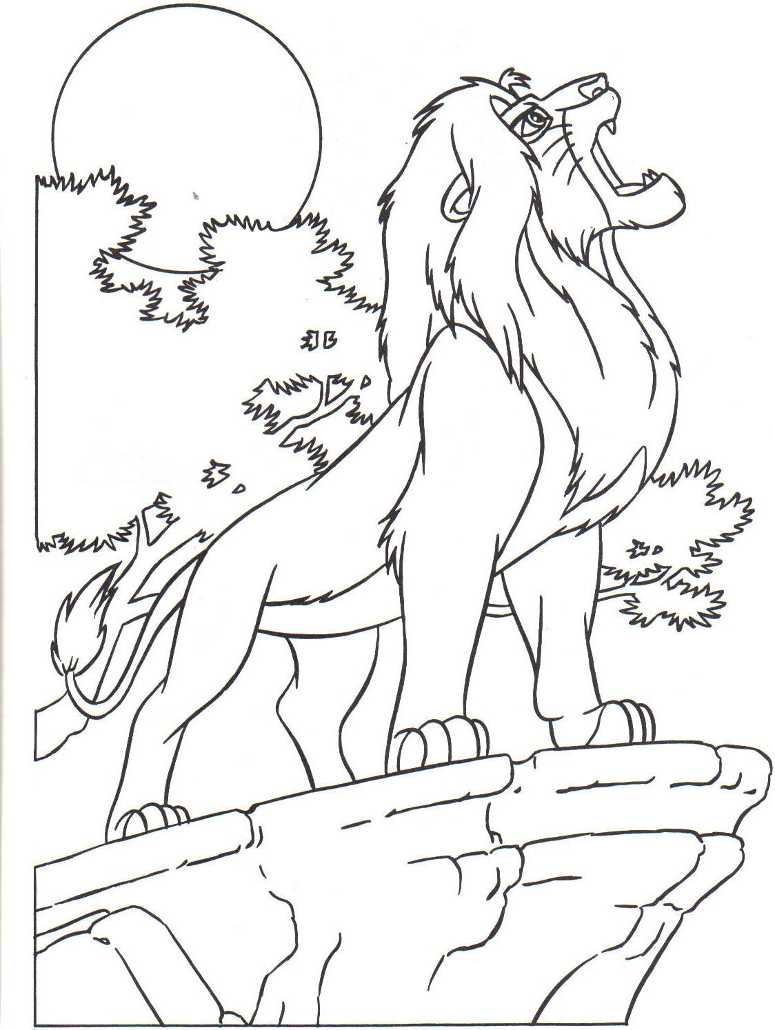 Dessin Coloriage le roi lion gratuit  imprimer et colorier