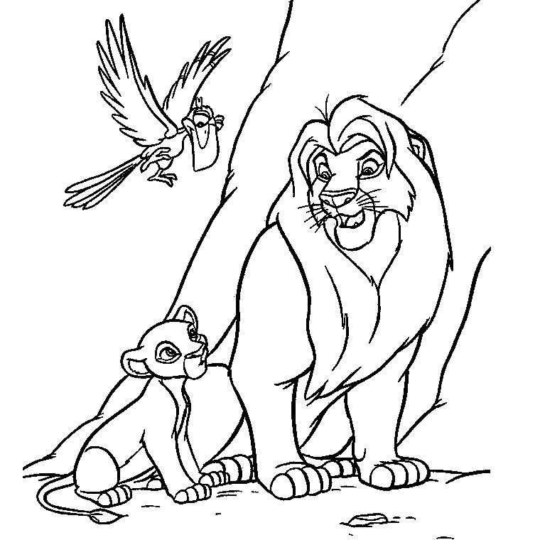 S lection de dessins de coloriage le roi lion imprimer sur page 4 - Dessin facile lion ...