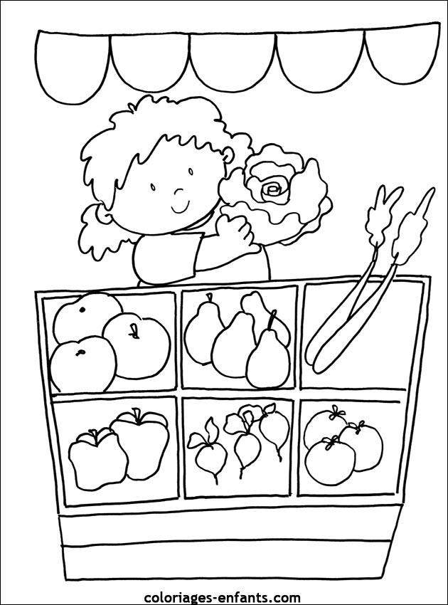 Coloriage légume à imprimer gratuit