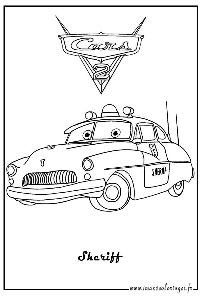 S lection de dessins de coloriage bagnoles imprimer sur page 2 - Coloriage cars couleurs ...