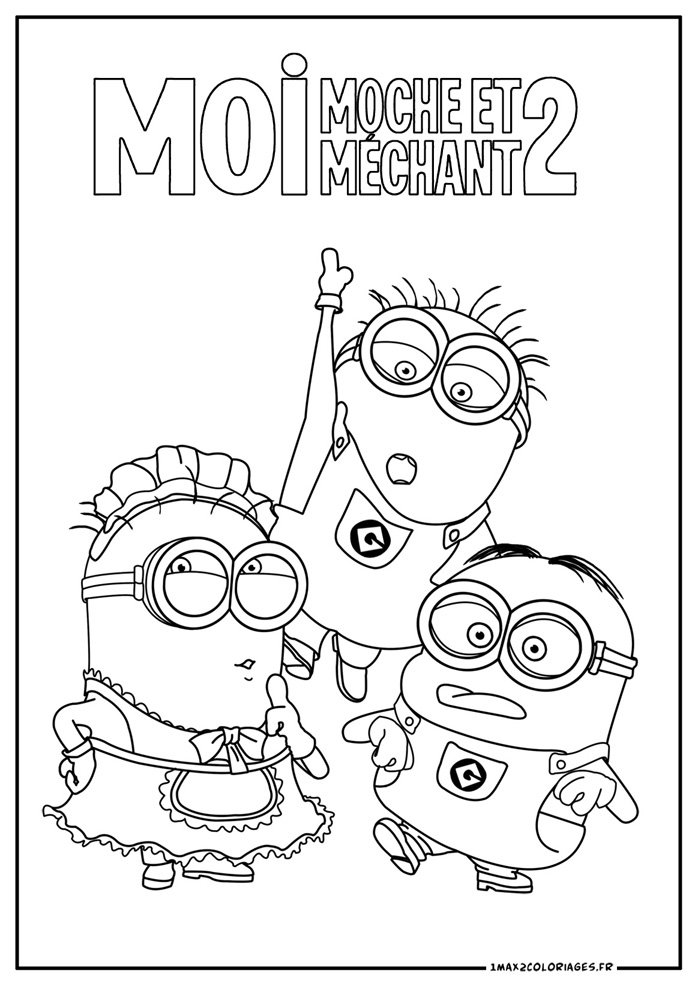 Coloriage les minions gratuit - dessin a imprimer #1