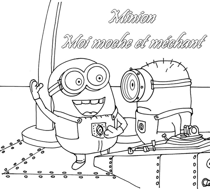 Coloriage les minions gratuit - dessin a imprimer #11